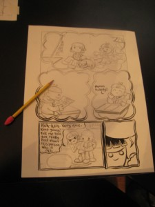 Page being inked